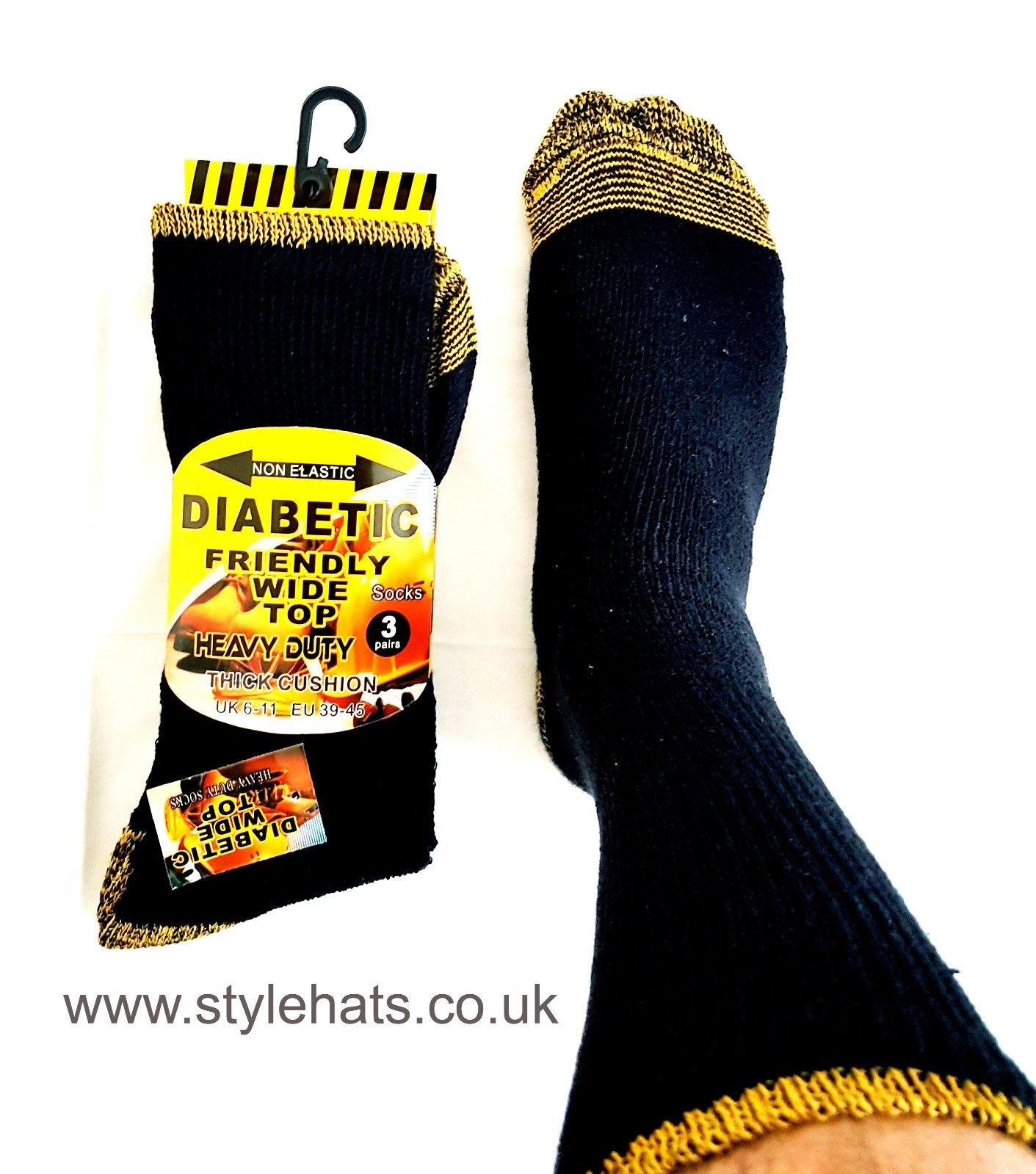 Diabetic Friendly Socks 3 Pairs Men/'s Soft Top Heavy Duty UK SIZE 6-11